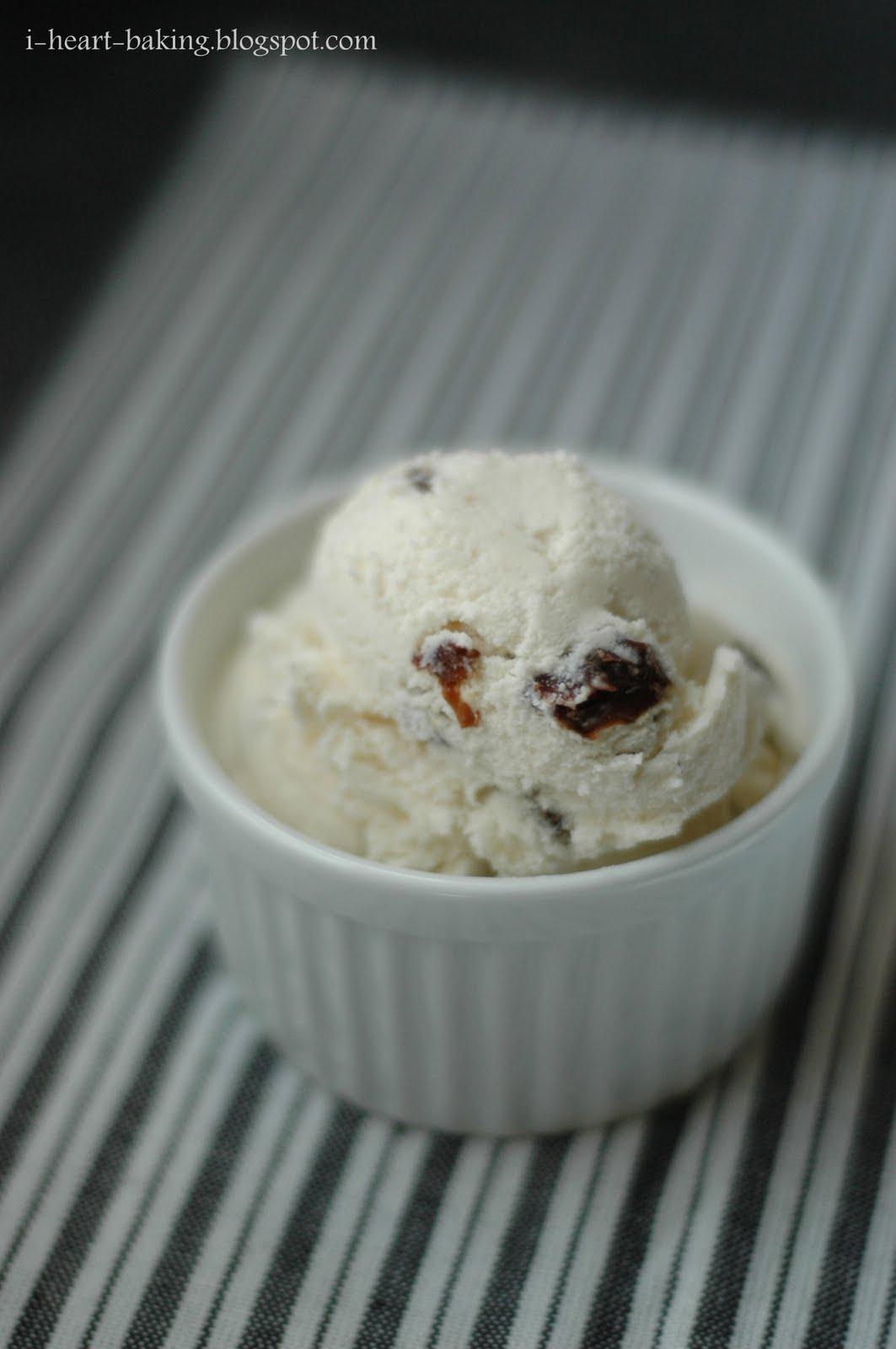 heart baking!: rum raisin ice cream