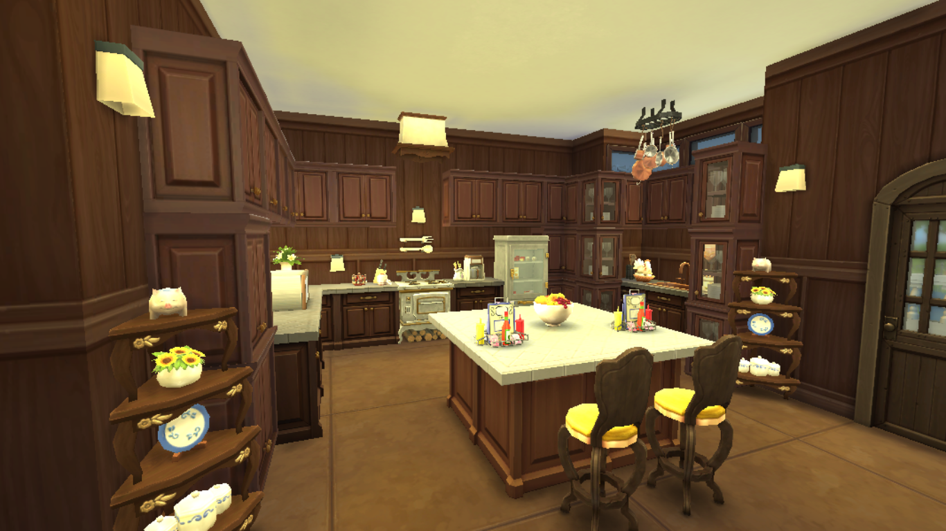 Sims Kitchen Sims 4 Room Cordelias Kitchen Sanjana Sims Studio