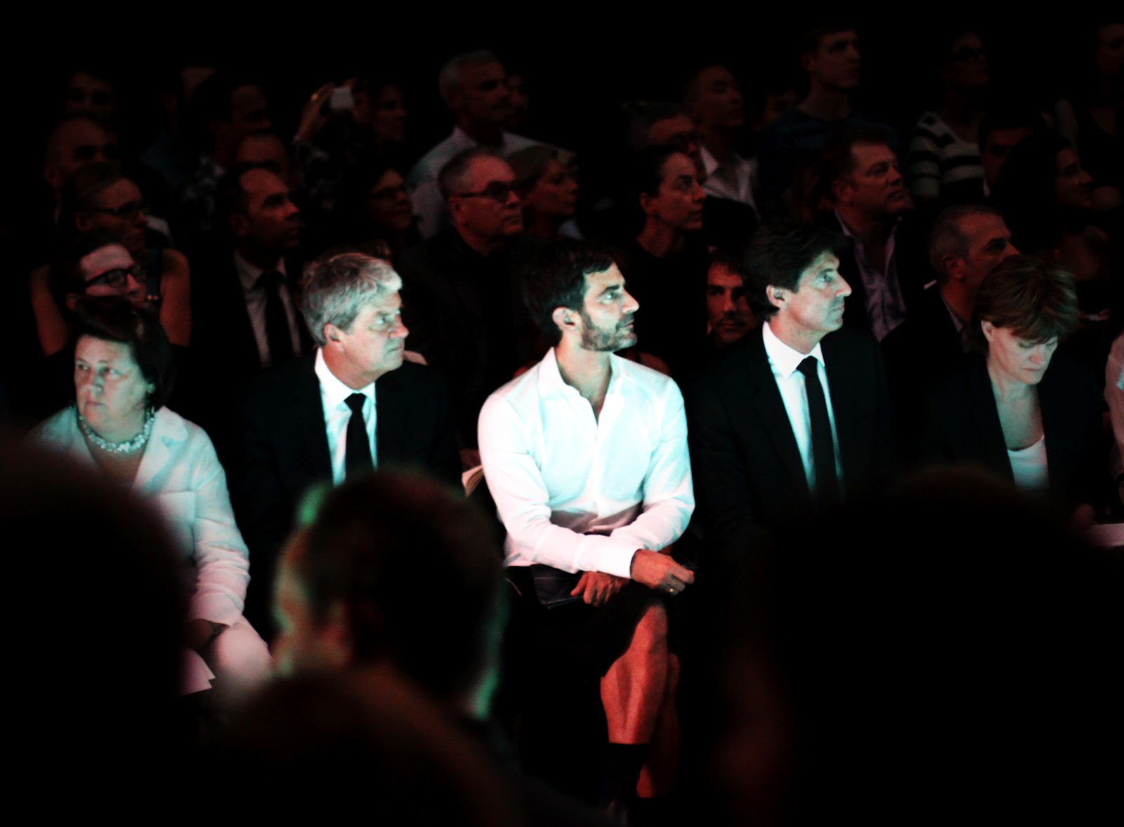 Marc Jacobs front row at Louis Vuitton
