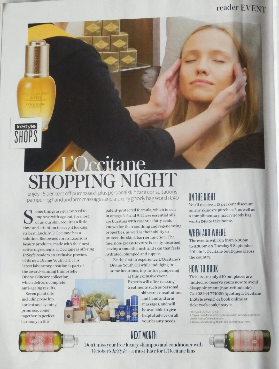 Instyle L'Occitane Shopping Night - Tuesday 9 September 2014