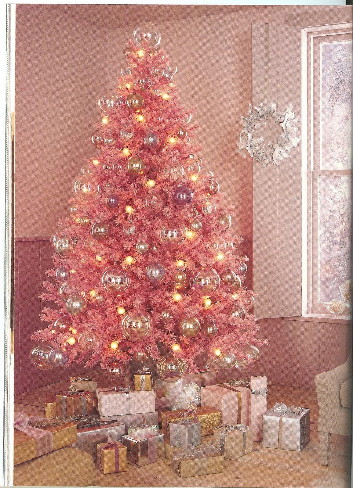 Pink Christmas Tree Blueprint