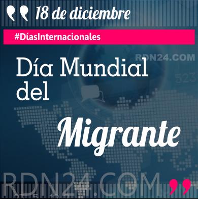 18 de diciembre - Día Mundial del Migrante #DíasInternacionales