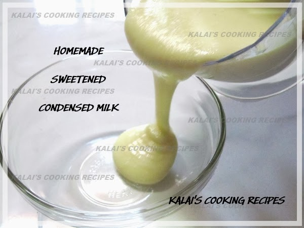 Homemade Sweetened Condensed Milk -How To Make The Condensed Milk