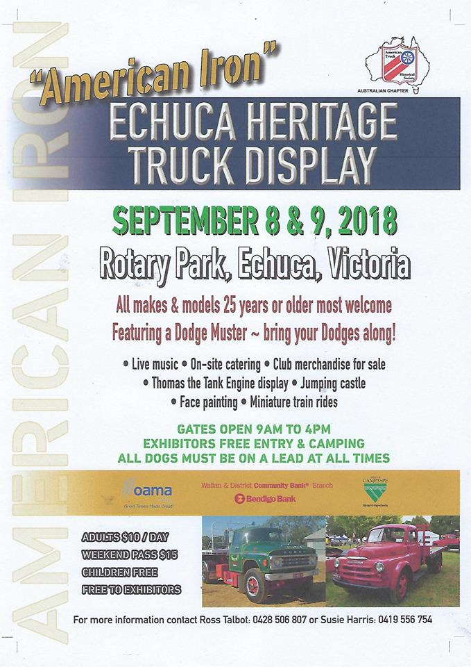 American Iron Echuca Heritage Truck Display