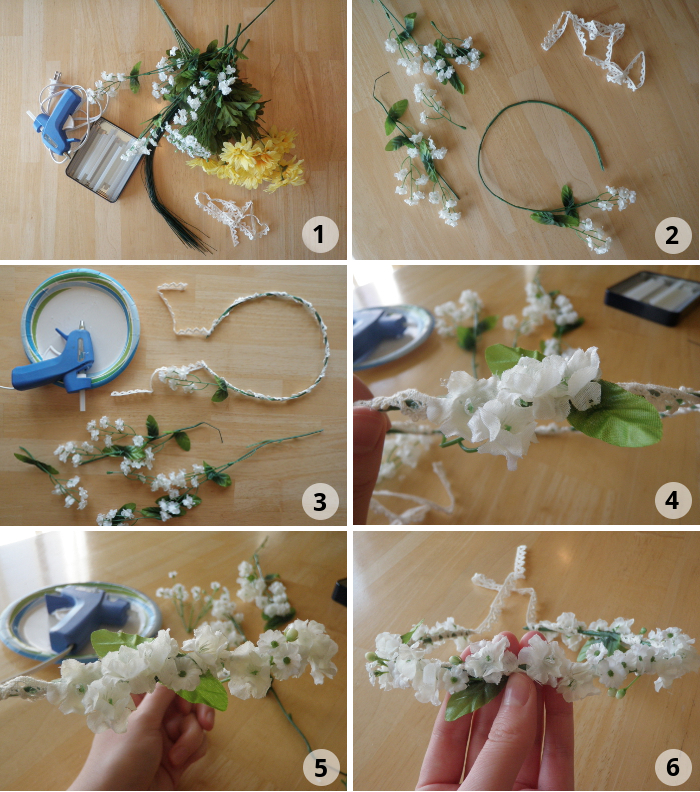 How to Make a Floral Crown:
