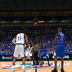 NBA 2K14 OKC Thunder Playoffs Crowd Mod