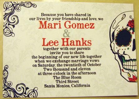 Charmant Adorably Unique: Customized   Modern  Dia De Los Muertos Day Of The Dead  Wedding Invitation