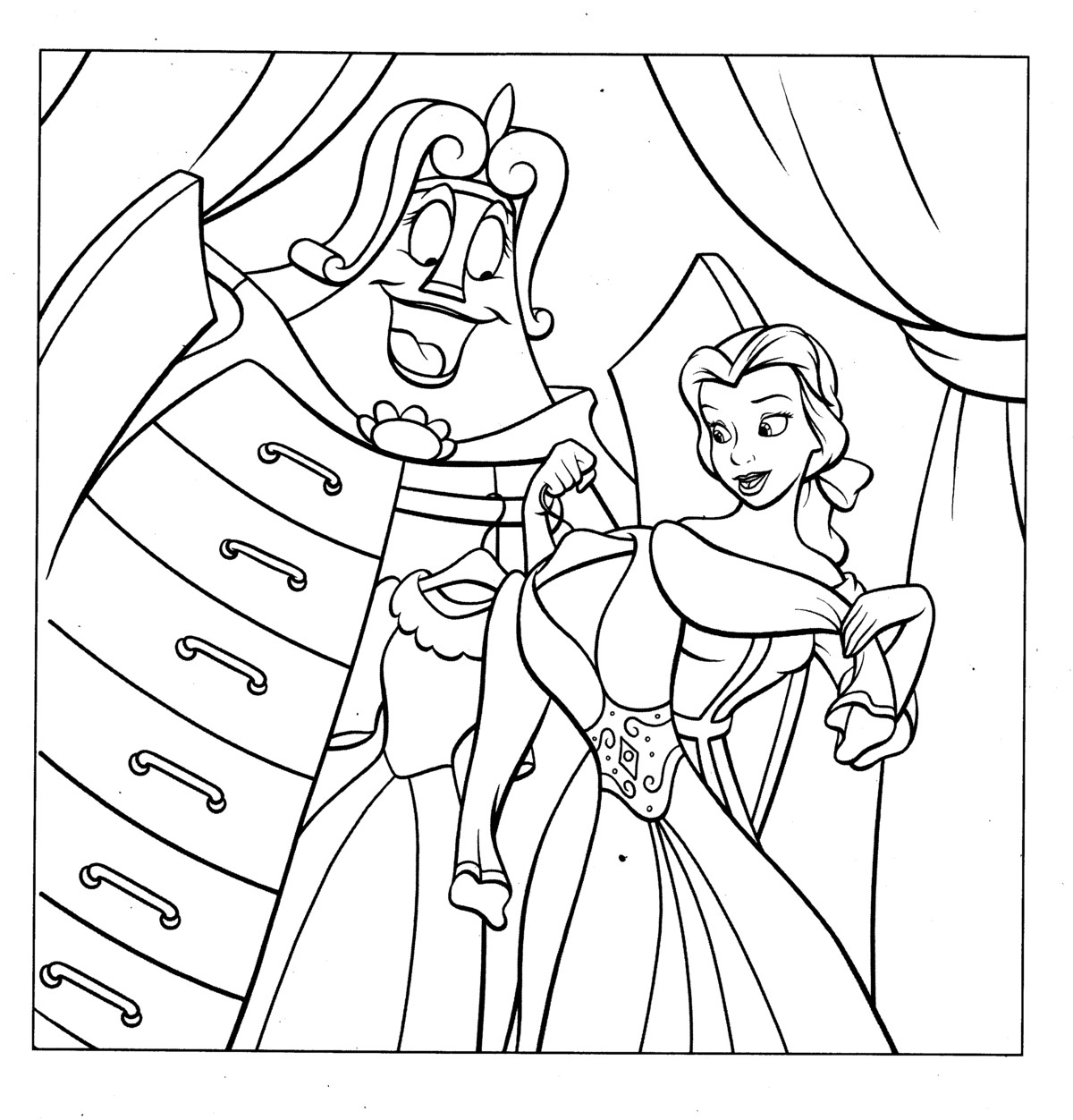 coloring pages disney princess belle - photo#31