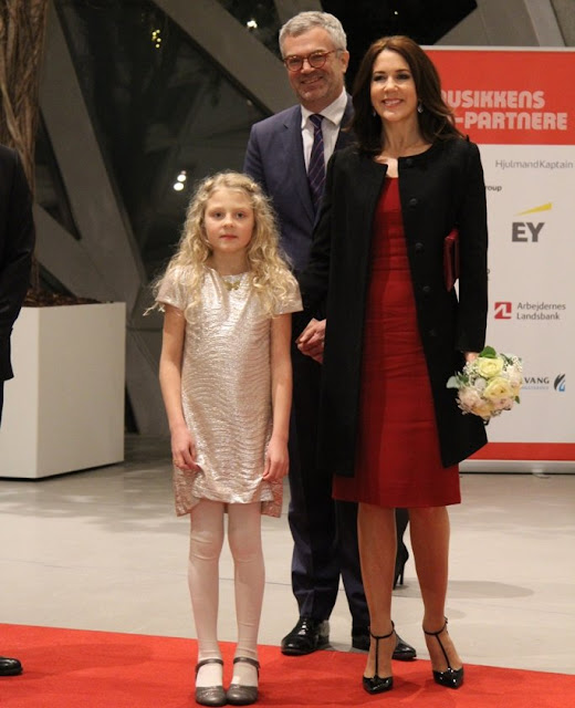 Crown Princess Mary of Denmark attended the TV2 Christmas Show at House of Music in Aalborg