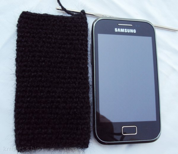 Crochet pattern for cell phone case