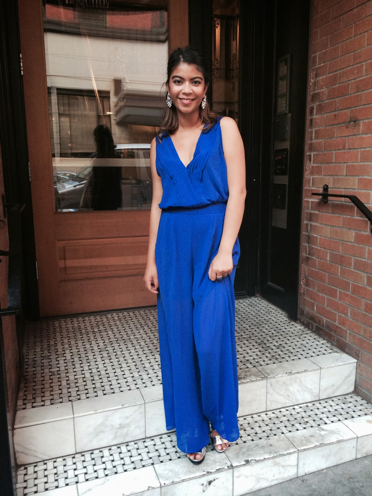 march agraviador, the p town girls, portland blogger, fashion blogger, street style, jumpsuit, mod deals, metallic heels, bachelorette party, ootn, what I wore tonight