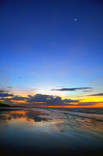 Bình minh trên biển Quất Lâm - Nam Định, ảnh đẹp bình minh