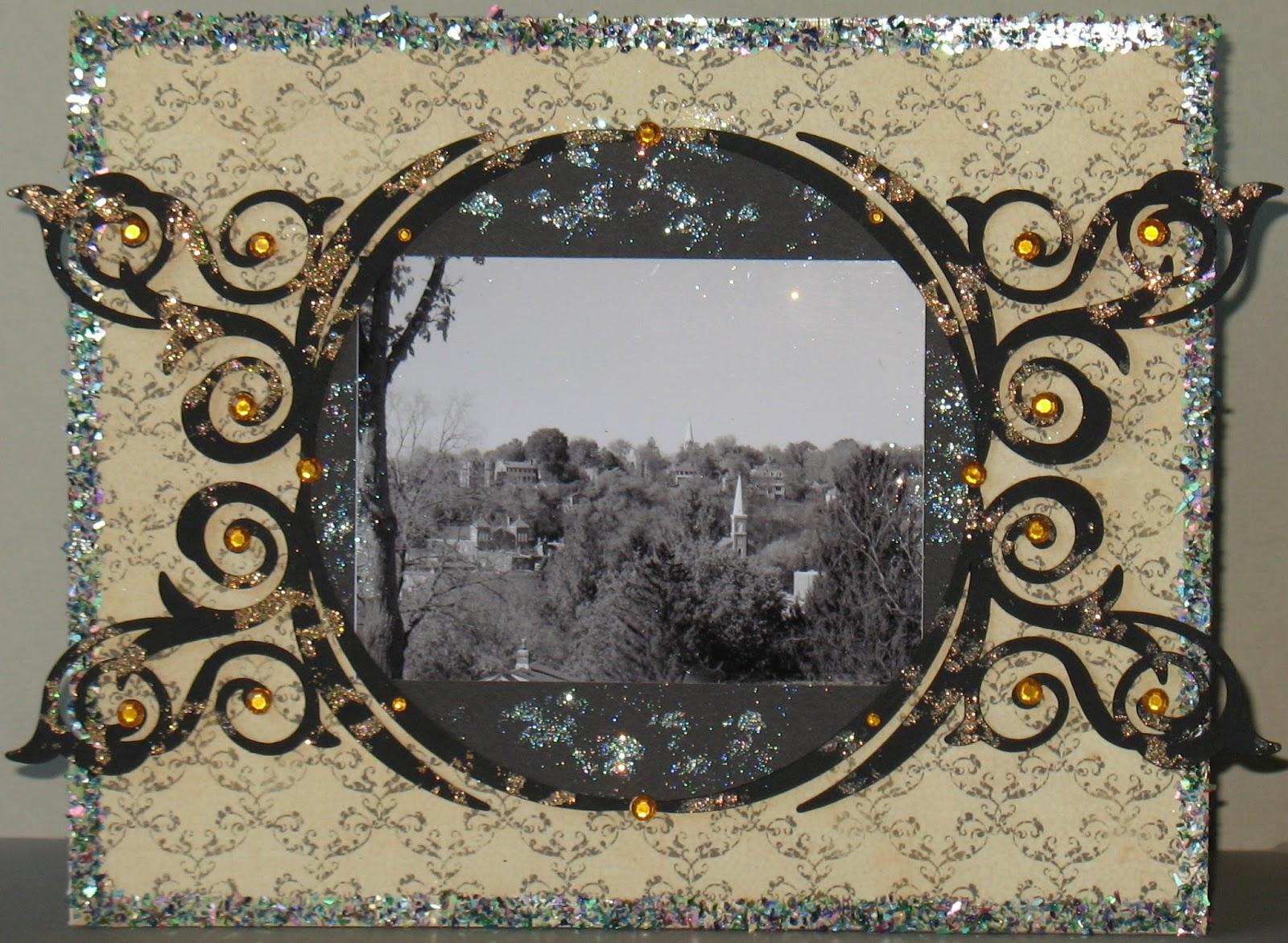 Artglitterblog Blinged Out Altered Photo Frame