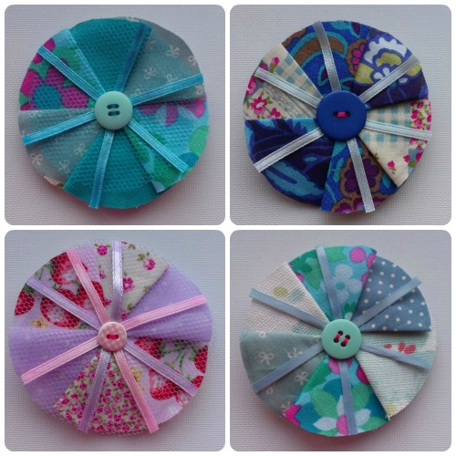 Fabric Brooches by craftypainter