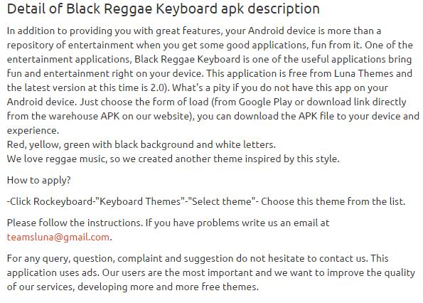 Black Reggae Keyboard 2.0 apk