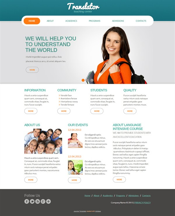 Translator - Free Joomla! template