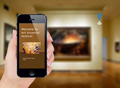 iPhone using iBeacons in an art museum.