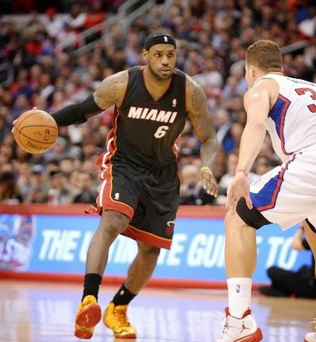 b20831ab306e ... James Wearing his Nike Lebron 11 XI Fairfax PE Sneakers last night  against the Clippers