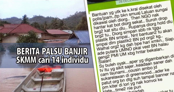 Berita palsu banjir: SKMM akan panggil 14 individu lagi bantu siasatan