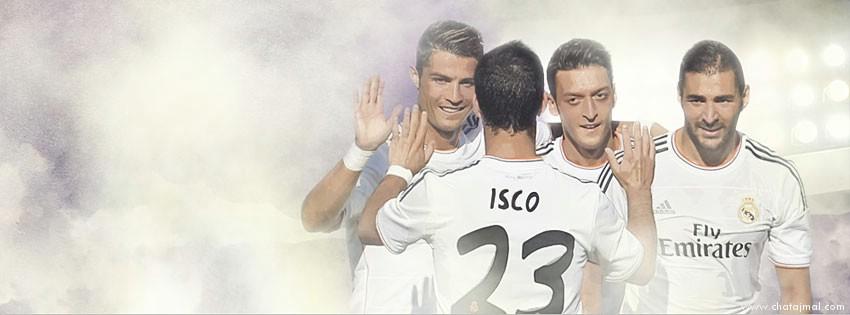 اغلفة ريال مدريد, صور غلاف كريستيانو رونالدو, اوزيل, بنزيما, ايسكو للفيس بوك