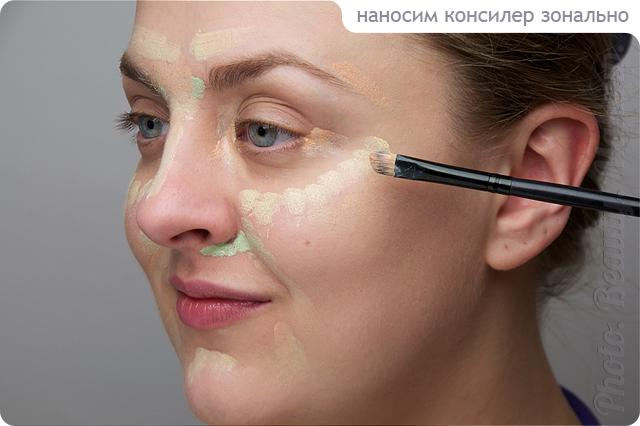 Как нанести макияж на синяк