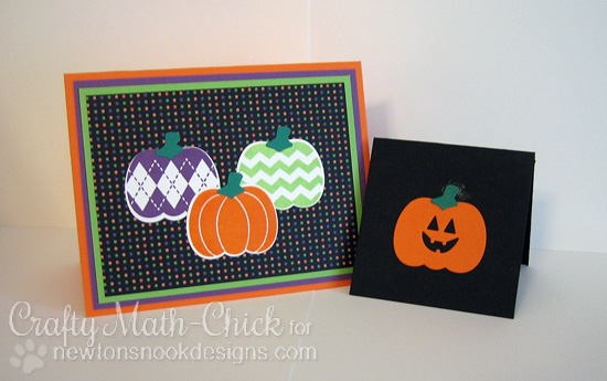 Pumpkin cards by Crafty Math-Chick  | Pick-a-Pumpkin stamp set by Newton's Nook Designs #newtonsnook #pumpkin