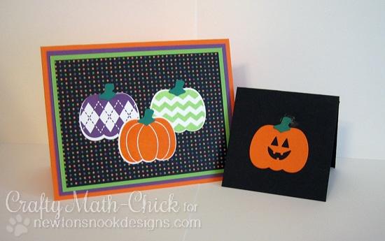 Pumpkin cards by Crafty Math-Chick  | Pick-a-Pumpkin stamp set by Newton's Nook Designs #newtonsnook #pumpkin