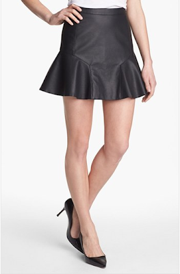 Fluted Faux Vegan Leather Skirt Nordstrom
