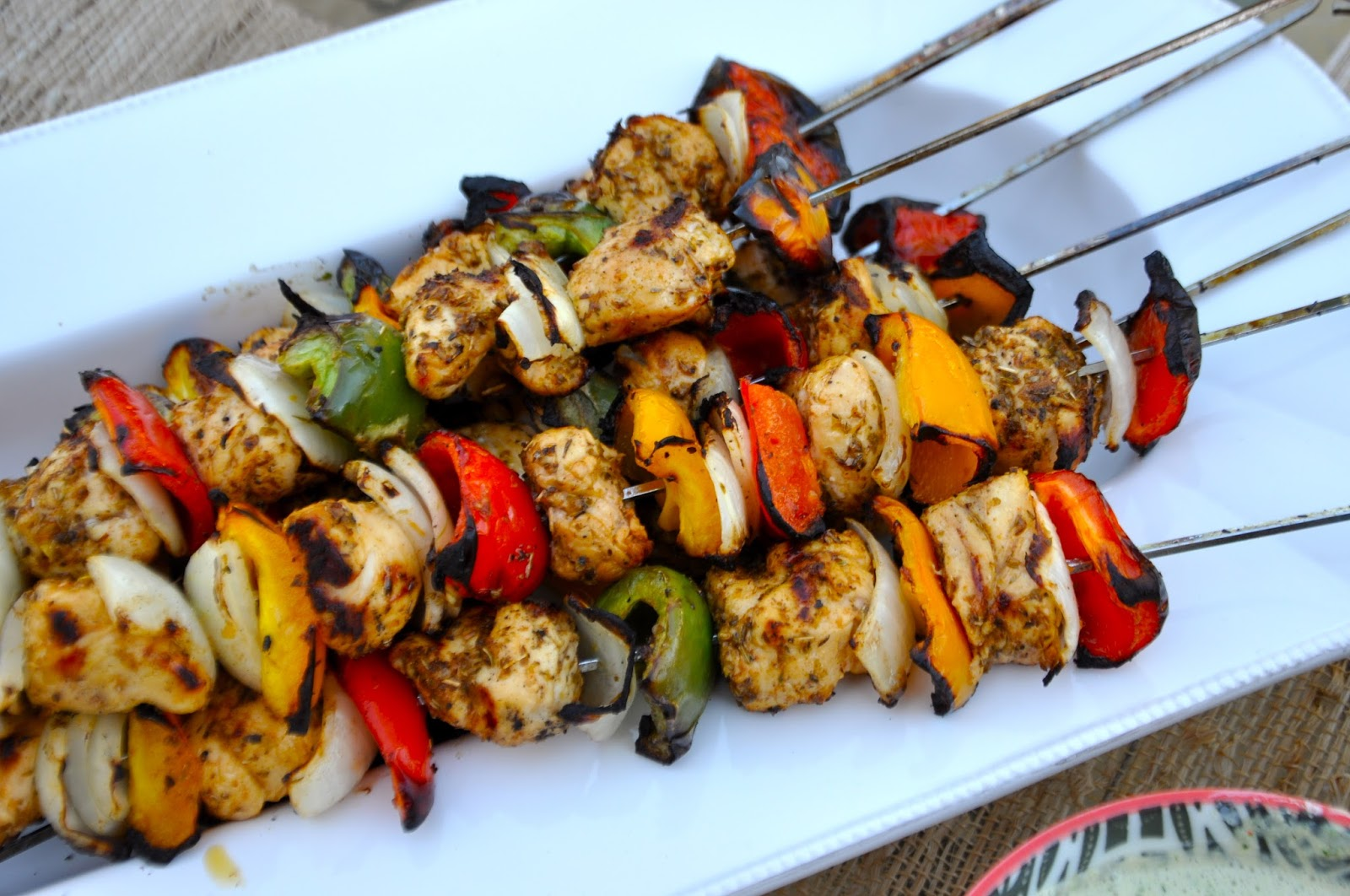 Chicken Souvlaki With Tzatziki Sauce And Greek Salad Recipe ...