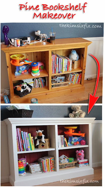 im still plugging along on my little boys nautical bedroom one of the furniture pieces i salvaged from another room in the house is this pine bookcase - Pine Bookshelves