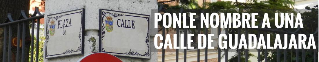 Ponle nombre a una calle de Guadalajara