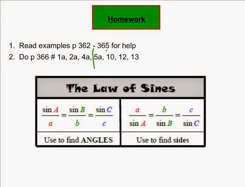 how to tell sine law