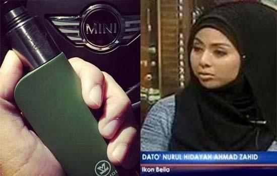 Kontroversi Dato Nurul Hidayah Hisap dan Promote Vape