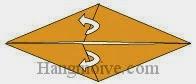 Bước 4: Mở hai lớp giấy, kéo sang phải.