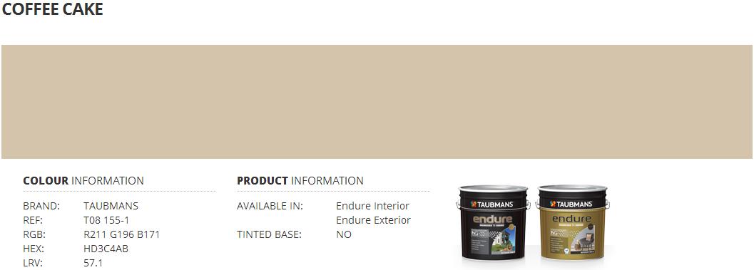 Colour and kitchen selection nybbles bytes - Taubmans exterior paint colours set ...