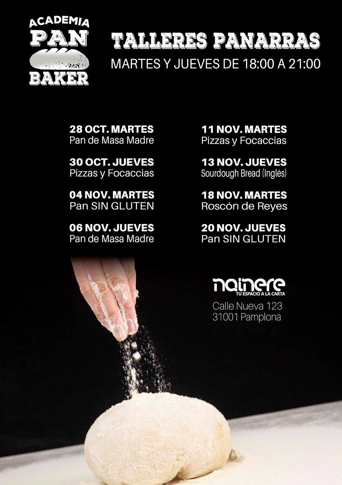 Cursos de panadería en Pamplona
