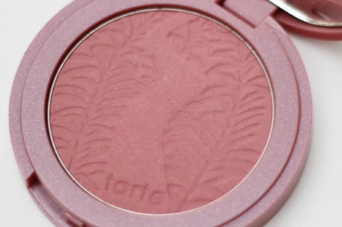 Close up of Dazzled Tarte Amazonian Clay blusher