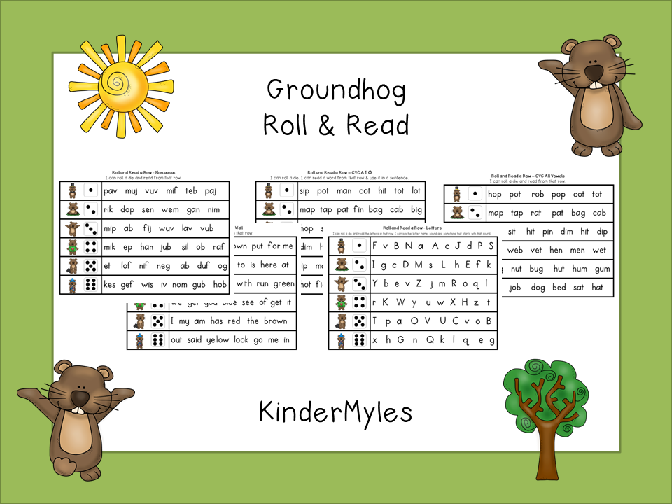 http://www.teacherspayteachers.com/Product/Groundhog-Roll-Read-1075875