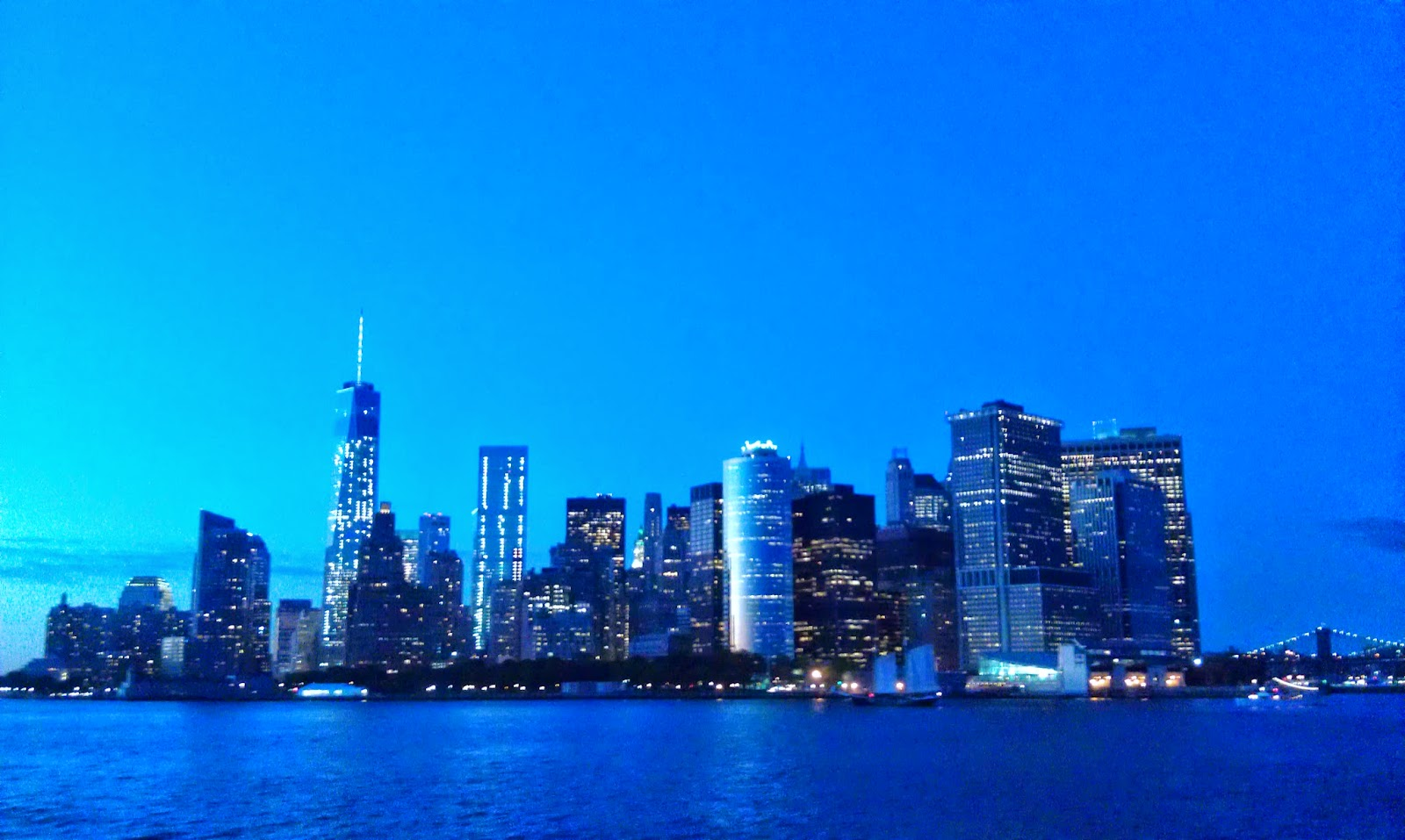 lower manhattan skyline blue