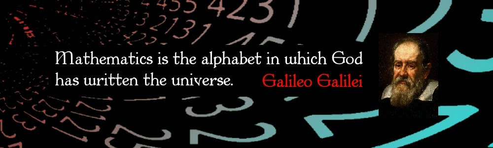 Galileo Galilei. Mathematics is the alphabet in which God has written the universe.