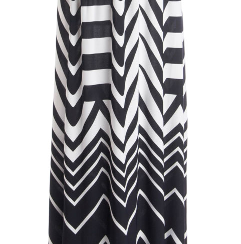 Black and white chevron maxi dress from Modcloth