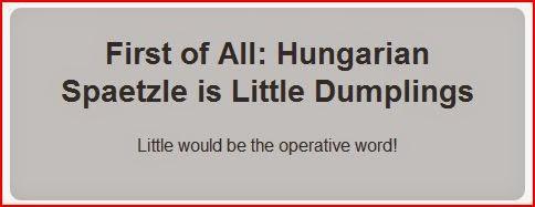 hungarian spaetzle little dumplings graybox