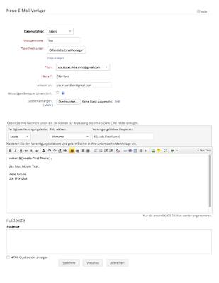E-Mail-Vorlage in Zoho CRM erstellen
