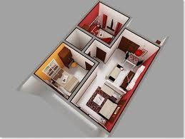 Denah rumah tipe 45 minimalis