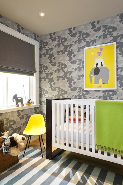 Custom Nursery Art By Kimberly Modern Baby Boy Nursery Ideas