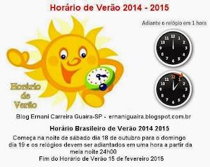 Inicio Horário Verão 2014 2015