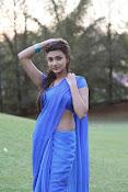 Neelam Upadhyay pics in Blue saree-thumbnail-23