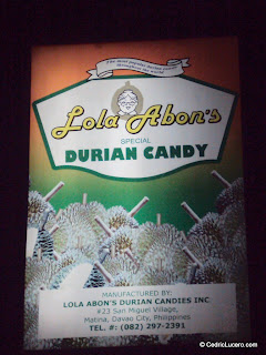 Lola Abon's Special Durian Candy