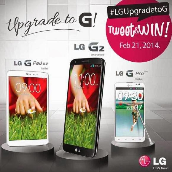 Tweet and Win Via LGUpgradetoG