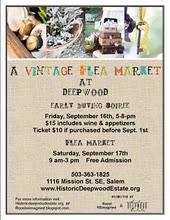 September 16 & 17 - Deepwood Vintage Flea Market